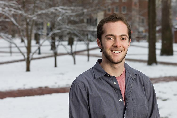 Portrait of Ohio University student Brady Edge in Athens, Ohio on Saturday, December 7, 2013. Photo by Chris Franz