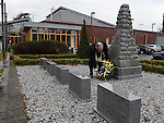 Chairperson of Louth County Council Oliver Tully lays a wreath at the war memorial service in Ardee. Photo:Colin Bell/pressphotos.ie