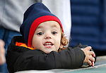 A young fan calls out to Archie before the start of the Reno Aces home opener against the Albuquerque Isotopes in Reno, Nev., on Tuesday, April 9, 2019.  The Aces won 4-2. <br />