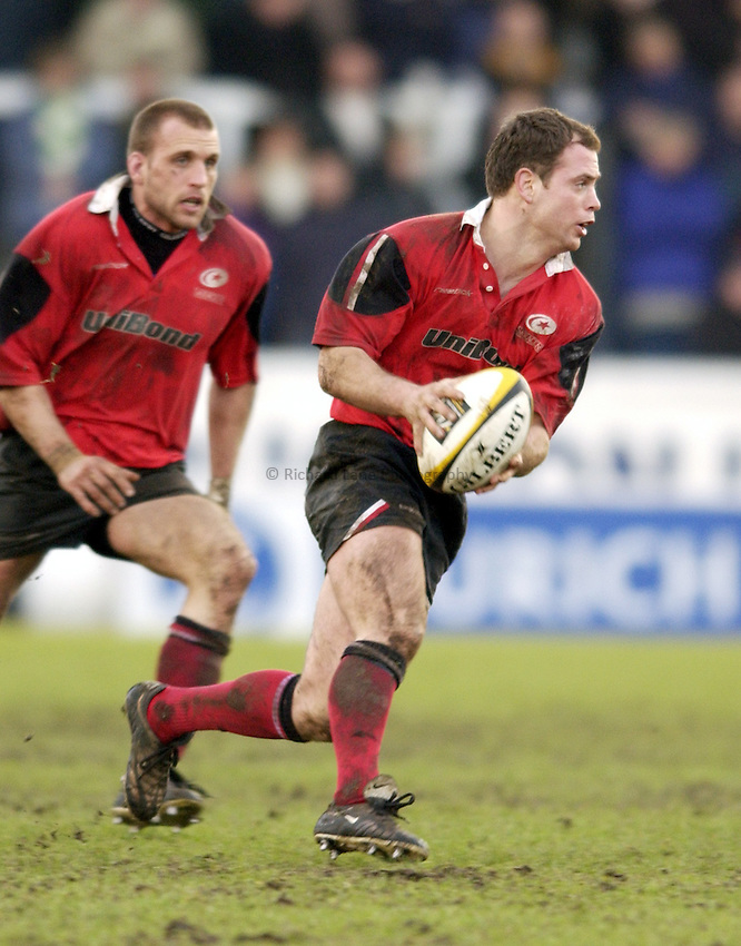 Photo. Jed Wee.Newcastle Falcons v Saracens, Parker Pen Challenge Cup, Kingston Park, Newcastle. 19/01/2003..Saracens' Kyran Bracken.