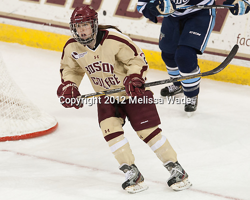 Kristina Brown (BC - 2) - The Boston College Eagles defeated the visiting University of Maine Black Bears 10-0 on Saturday, December 1, 2012, at Kelley Rink in Conte Forum in Chestnut Hill, Massachusetts.