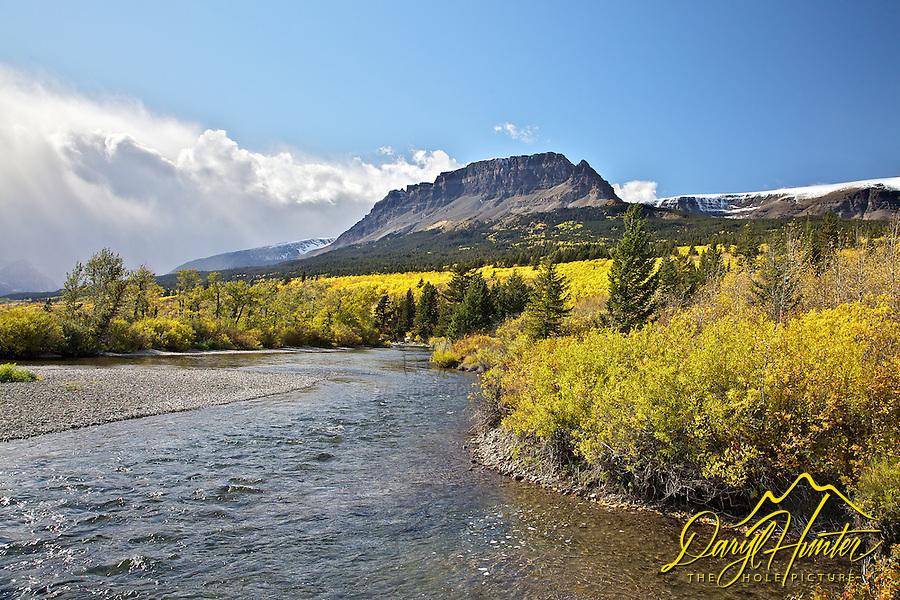 St. Marys River, fall colors, Glacier National Park