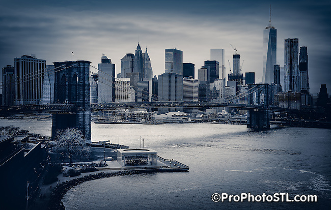 Manhattan skyline in New York city, New York