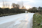 Treacherous road conditions in Donore, Co.Meath..(Photo credit should read Jenny Matthews www.newsfile.ie)....This Picture has been sent you under the conditions enclosed by:.Newsfile Ltd..The Studio,.Millmount Abbey,.Drogheda,.Co Meath..Ireland..Tel: +353(0)41-9871240.Fax: +353(0)41-9871260.GSM: +353(0)86-2500958.email: pictures@newsfile.ie.www.newsfile.ie.