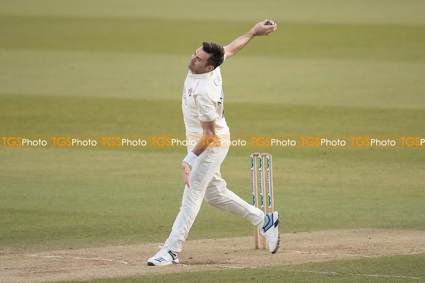 James Anderson of Lancashire CCC in action during Middlesex CCC vs Lancashire CCC, Specsavers County Championship Division 2 Cricket at Lord's Cricket Ground on 13th April 2019