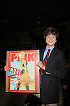 All My Children JQ DePaiva holds signed Pink poster from silent auction at the 19th Annual Feast benefitting the Center for Hearing and Communication - Connect to Life on October 22, 2012 at Chelsea Pier 60, New York City, New York.  (Photo by Sue Coflin/Max Photos)