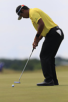Hideki Matsuyama (JPN) putts on the 6th green during Friday's Round 2 of the 117th U.S. Open Championship 2017 held at Erin Hills, Erin, Wisconsin, USA. 16th June 2017.<br /> Picture: Eoin Clarke | Golffile<br /> <br /> <br /> All photos usage must carry mandatory copyright credit (&copy; Golffile | Eoin Clarke)