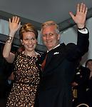 Le Roi Philippe et la Reine Mathilde lors du Bal National le 20 juillet 2014