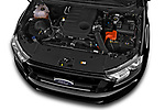 Car Stock 2018 Ford Ranger Limited-Black-Edition 4 Door Pick-up Engine  high angle detail view