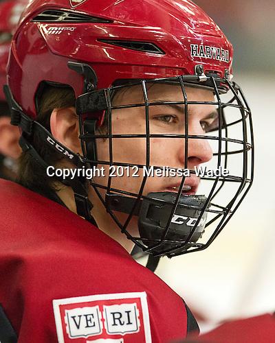 Petr Placek (Harvard - 27) - The Harvard University Crimson defeated the visiting Rensselaer Polytechnic Institute Engineers 4-0 (EN) on Saturday, November 10, 2012, at Bright Hockey Center in Boston, Massachusetts.