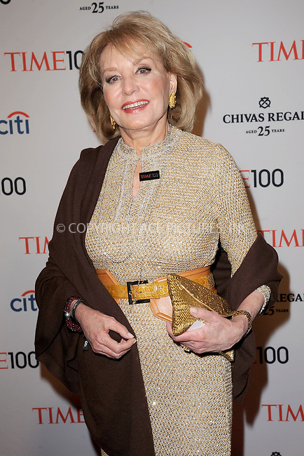 WWW.ACEPIXS.COM . . . . . .April 23, 2013...New York City....Barbara Walters attends TIME 100 Gala, TIME'S 100 Most Influential People In The World at Jazz at Lincoln Center on April 23, 2013 in New York City ....Please byline: KRISTIN CALLAHAN - ACEPIXS.COM.. . . . . . ..Ace Pictures, Inc: ..tel: (212) 243 8787 or (646) 769 0430..e-mail: info@acepixs.com..web: http://www.acepixs.com .