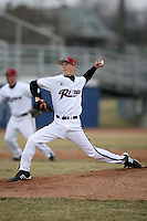 March 22nd 2009:  Pitcher Patrick Devlin (28) of the Rider University Broncs during a game at Sal Maglie Stadium in Niagara Falls, NY.  Photo by:  Mike Janes/Four Seam Images