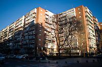 Palazzi della periferia di Madrid. Uno dei primi segnali della crisi economica che ha colpito la Spagna è stata la bolla immobiliare.