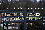 Blackburn Rovers 3 Shrewsbury Town 1, 14/01/2018. Ewood Park, League One. The Blackburn Rovers Memorial Garden, pictured before Blackburn Rovers played Shrewsbury Town in a Sky Bet League One fixture at Ewood Park. Both team were in the top three in the division at the start of the game. Blackburn won the match by 3 goals to 1, watched by a crowd of 13,579. Photo by Colin McPherson.
