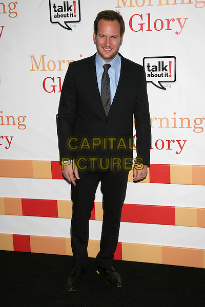 """PATRICK WILSON .The World Premiere of """"Morning Glory"""" at the Ziegfeld Theater, New York, NY, USA..November 7th, 2010.full length black suit jacket blue shirt tie .CAP/LNC.©TOM/LNC/Capital Pictures."""