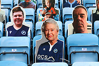 A cardboard cut out with the face of the Queen in the stand during Millwall vs Swansea City, Sky Bet EFL Championship Football at The Den on 30th June 2020