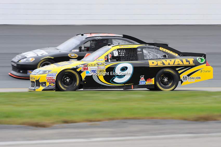 September 22, 2012 Sprint Cup Series driver Marcos Ambrose (9) during the Sylvania 300 practice session at New Hampshire Motor Speedway in Loudon, New Hampshire.  Eric Canha/CSM