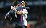 Tottenham's Kyle Walker and Hugo Lloris celebrate at the final whistle <br /> <br /> Barclays Premier League- Tottenham Hotspurs vs Arsenal  - White Hart Lane - England - 7th February 2015 - Picture David Klein/Sportimage
