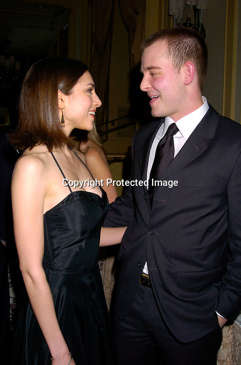 Eden Riegel and Jay Wilkison ..at The Writers Guild of America Annual Awards ceremony on February 21, 2004 at the Pierre Hotel.               Photo by Robin Platzer, Twin Images