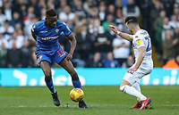 Bolton Wanderers' Sammy Ameobi competing with Leeds United's Jack Harrison <br /> <br /> Photographer Andrew Kearns/CameraSport<br /> <br /> The EFL Sky Bet Championship - Leeds United v Bolton Wanderers - Saturday 23rd February 2019 - Elland Road - Leeds<br /> <br /> World Copyright © 2019 CameraSport. All rights reserved. 43 Linden Ave. Countesthorpe. Leicester. England. LE8 5PG - Tel: +44 (0) 116 277 4147 - admin@camerasport.com - www.camerasport.com