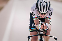 2017 TT World Champion Annemiek van Vleuten (NED/Mitchelton-Scott) training with her costumized Scott Plasma TT bike<br /> <br /> Mitchelton-Scott Women's team training camp in Oliva (Alicante) /Spain, may 2018<br /> &copy;kramon