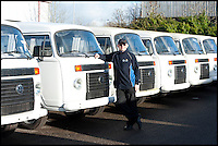 BNPS.co.uk (01202 558833)<br /> Pic: LauraJones/BNPS<br /> <br /> Jason Jones of Danbury MotorCaravans with some of the last ever VW campervans.<br /> <br /> The last ever delivery of brand new Volkswagen campervans has arrived in Britain marking the end of an era for the iconic 'hippy bus'.<br /> <br /> Ninety nine of the final batch of vans rolled off the production line and onto a container ship bound for British shores after manufacture ceased for good in Brazil in December.<br /> <br /> And though the consignment has only just arrived, almost all of the vans have already been snapped up by eager buyers happy to fork out the &pound;35,000 starting price.<br /> <br /> They are the last brand new campers in all of Europe.