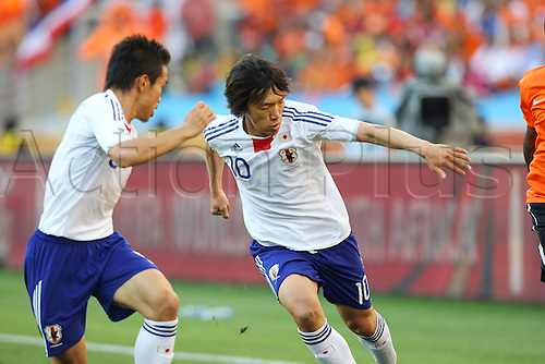hunsuke Nakamura (JPN), .JUNE 19, 2010 - Football : .2010 FIFA World Cup South Africa .Group Match -Group E- .between Netherlands 1-0 Japan .at Durban Stadium, Durban, South Africa. .