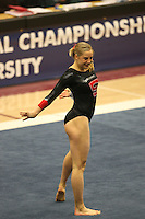 8 April 2006: Stanford's Natalie Foley during the NCAA West Regional women's gymnastics championships at Maples Pavilion in Stanford, CA.