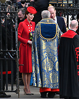 Prince Harry, Catherine Duchess of Cambridge at Commonwealth Day Observance Service, an annual multi-faith service in celebration of the Commonwealth, at Westminster Abbey, London, England on March 11, 2019.<br /> CAP/JOR<br /> &copy;JOR/Capital Pictures