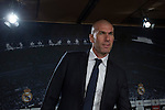 Real Madrid's new coach Zinedine Zidane arrives to his first press conference at the Santiago Bernabeu stadium in Madrid, Spain. January 05, 2015. (ALTERPHOTOS/Victor Blanco)
