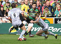 Rugby Union - Aviva Premiership - Northampton Saints vs. Leicester Tigers. Ben Foden of Northampton Saints in action during the Northanpton Saints vs Leicester Tigers Aviva Premiership at Franklin's Gardens, Northampton,