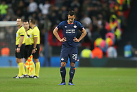 PSV Eindhoven's Trent Sainsbury looks dejected at the end of the game<br /> <br /> Photographer Rob Newell/CameraSport<br /> <br /> UEFA Champions League -Group B - Tottenham Hotspur v PSV Eindhoven - Tuesday 6th November 2018 - Wembley Stadium - London<br />  <br /> World Copyright © 2018 CameraSport. All rights reserved. 43 Linden Ave. Countesthorpe. Leicester. England. LE8 5PG - Tel: +44 (0) 116 277 4147 - admin@camerasport.com - www.camerasport.com
