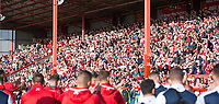 Picture by Allan McKenzie/SWpix.com - 09/09/2017 - Rugby League - Betfred Super League - Hull KR v Widnes Vikings - KC Lightstream Stadium, Hull, England - Hull KR's fans celebrate with their team as they regain their place in Super League.