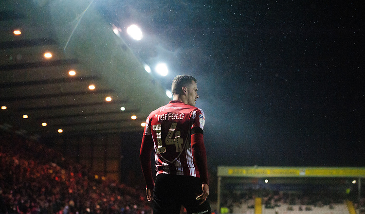 Lincoln City's Harry Toffolo<br /> <br /> Photographer Chris Vaughan/CameraSport<br /> <br /> The EFL Sky Bet League Two - Saturday 15th December 2018 - Lincoln City v Morecambe - Sincil Bank - Lincoln<br /> <br /> World Copyright © 2018 CameraSport. All rights reserved. 43 Linden Ave. Countesthorpe. Leicester. England. LE8 5PG - Tel: +44 (0) 116 277 4147 - admin@camerasport.com - www.camerasport.com