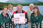 The final preparations are being in place for the resheduled Killarney Regatta one of the highlights of the summer season. .Back L-R Secretary of Killarney Regatta Maureen O'Donoghue and PRO John Kelly. .Front L-R Ciara Brosnan, Connie Daly Fossa Committee member and Emma Brosnan