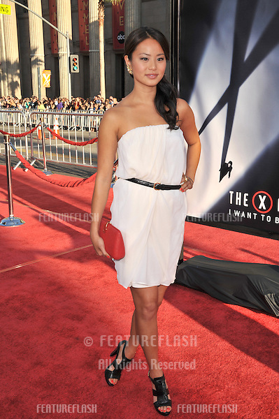 "Jamie Chung at the world premiere of ""The X-Files: I Want To Believe"" at Grauman's Chinese Theatre, Hollywood..July 23, 2008  Los Angeles, CA.Picture: Paul Smith / Featureflash"