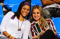 RIO DE JANEIRO, RJ, 29 AGOSTO 2012-CAMP. BRASILEIRO FLUMINENSE X CORINTHIANS - Torcedores do Fluminense durante a partida Fluminense x Corinthians, valida pela 20 rodada do Campeonato Brasileiro, no estadio Joao Havelange, Engenhao, zona norte do Rio de Janeiro.(FOTOMARCELO FONSECA BRAZIL PHOTO PRESS).