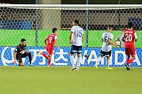 03th November 2019; Kleber Andrade Stadium, Cariacica, Espirito Santo, Brazil; FIFA U-17 World Cup Brazil 2019, Argentina versus Tajikistan; Rustam Soirov of Tajikistan celebrates his goal in the 81th minute, 2-1
