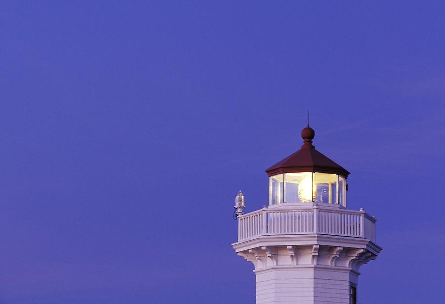 Mukilteo Light at twilight, Mukilteo, Washington