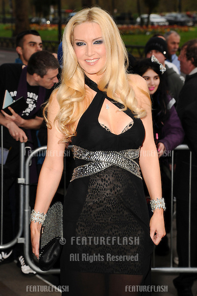 Emma Noble arrives for The Asian Awards 2014 at the Grosvenor House Hotel, London. 04/04/2014 Picture by: Steve Vas / Featureflash