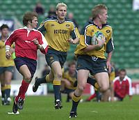 24/05/2002 (Friday).Sport -Rugby Union - London Sevens.Australia vs Portugal[Mandatory Credit, Peter Spurier/ Intersport Images].