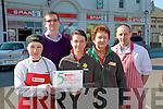 Spar Listowel: Staff of Spar, Marketr St Listowel who won a Spar Retailing award. L-R Nicola Heaphy, Ger Greaney, owner, Phyllis McKenna, Anne Whytr & Mike Buckley.
