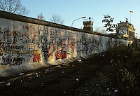 'Graffiti and Brandenburg Gate' - Berlin Wall west zone.10 November 1989