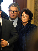 United States Senator Al Franken (Democrat of Minnesota) arrives with his wife Franni in the US Capitol in Washington, DC on Wednesday, December 6, 2017.<br /> Credit: Ron Sachs / CNP<br /> (RESTRICTION: NO New York or New Jersey Newspapers or newspapers within a 75 mile radius of New York City)