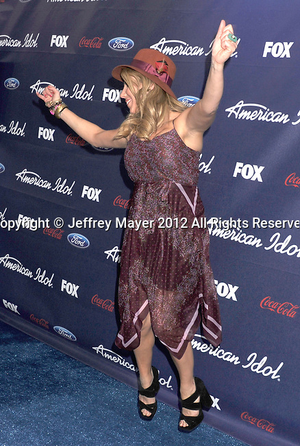 LOS ANGELES, CA - MARCH 01: Elise Testone arrives at the American Idol Finalists party at The Grove Parking Structure Rooftop on March 1, 2012 in Los Angeles, California.