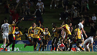 PICTURE BY VAUGHN RIDLEY/SWPIX.COM - Rugby League - Rugby League World Cup 2008 - England v Papua New Guinea - Dairy Farmers Stadium, Townsville, Australia - 25/10/08...Copyright - Simon Wilkinson - 07811267706...PNG celebrate their first try.