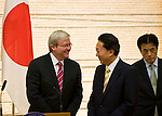 Australian Prime Minister Kevin Rudd and his Japanese counterpart Yukio Hatoyama share a joke as Japan foreign minister Katsuya Okada looks on during a meeting at the Japanese prime minister's offices in Tokyo, Japan on Tuesday Dec. 15 2009..Photographer: Robert Gilhooly..