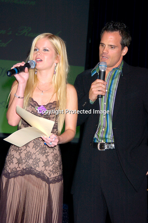 Crystal Hunt and Michael Park ..at the 10th Annual Daytime Television Salutes St. Jude Children's Research Hospital Benefit on October 8, 2004 at the Marriott Marquis Hotel in New York City...Photo by Robin Platzer, Twin Images