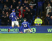 31st January 2020; Cardiff City Stadium, Cardiff, Glamorgan, Wales; English Championship Football, Cardiff City versus Reading; Callum Paterson of Cardiff City celebrates after scoring the equalizer making it 1-1 in the 70th minute