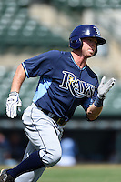 Tampa Bay Rays third baseman Grant Kay (92) during an Instructional League game against the Baltimore Orioles on September 15, 2014 at Ed Smith Stadium in Sarasota, Florida.  (Mike Janes/Four Seam Images)